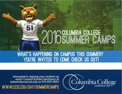 2016 Columbia College Summer Camps