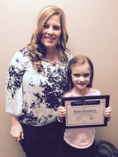 "February Value of the Month Student ""Honesty"" ~ Kami Spurgeon"