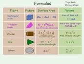 Area, Surface Area, & Volume