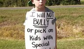 I will never bully again!