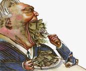"""Greed turns you into a money hungry """"human"""""""