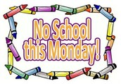 No School for Students on Monday, Oct. 12th!