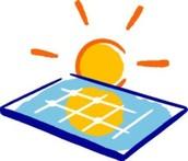 Zonne-energie van Energie van de Zon