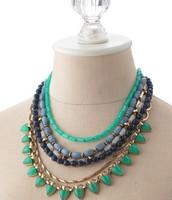 Sutton Necklace- blue/green