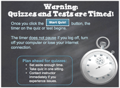 All Quizzes & Tests are Timed