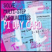 Solving Inequalities Pi Day Card