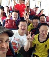 Happy on the Bus
