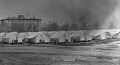 Outside Hospital Tents
