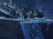 Titanic ripping into two