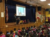 Had a blast reading a Phil Bildner book at W.A.R.P. Wednesday Assembly! Excited he's visiting!