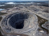 Huge diamond mine in Canada.