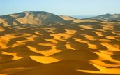 This is the Sahara desert sand hills