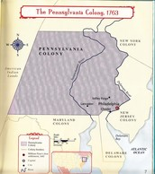 Map of the Pennsylvania Colony