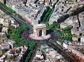 L'Arc de Triomphe d'en haut