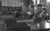 Students in the Library at college