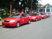 los taxis rojos de Costa rica