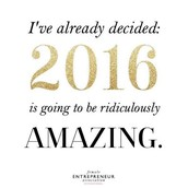 2016 is going to be AWESOME!!!