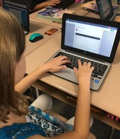 Blogging fun, while practicing our keyboarding skills.