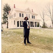 Painting of Frederick Douglass In Front of His House