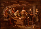 Colonists having a meeting
