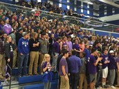 Huge Student Section In Support Of Purple Out