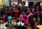 Staff Help to Keep Kids Warm