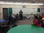 James Dudley Teaching Vermont History to 7th Graders