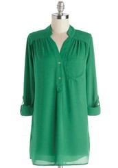 Pam Breeze-ly Tunic in Green