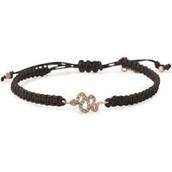 Sidewinder bracelet rose gold and black