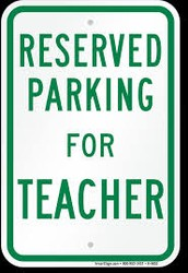 Most Awesome Teacher/Staff Parking Raffle