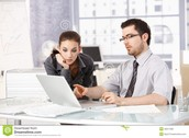 Man and Woman working together, Distraction Free