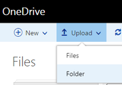 How to upload files to OneDrive