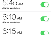 Alarms on iPhone