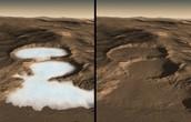 Glaciers on Mars.