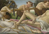 Mars and Venus by  Sandro Botticelli in 1483