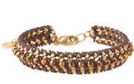 Ella Bracelet in Brown/Gold