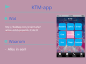 Presentatie maken KTM-app