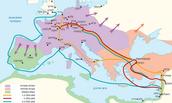 מפה מצרפת לירושלים בזמן מסע הצלב הראשון
