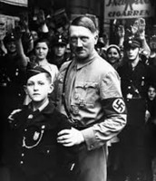 Hitler with a member of the Nazi Youth