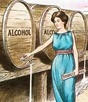 Women Draining Alcohol