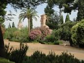 Los jardines en La Alhambra