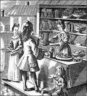 A woman as a shopkeeper