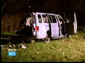 How the van was after the crash