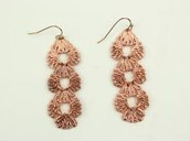 Geneve Linear Earrings - Rose Gold