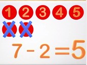 Count all values and subtract the value of the small number