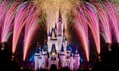 Los fuegos artificiales en DisneyLand