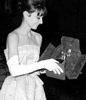 Audrey and her Newly Cased Award