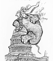 Elephant on Congress building