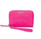 Chelsea tech wallet - Glow Pink Perf $30