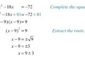 Completing the square (solving)